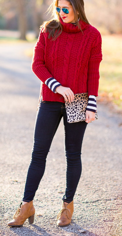 CHUNKY RED WITH STRIPES