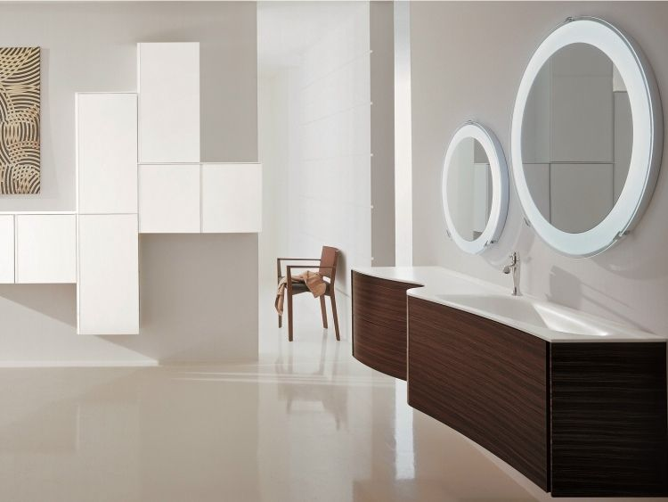 Holz Badezimmermöbel ~ Badezimmermöbel aus holz badmöbel set in schwarz hochglanz mit