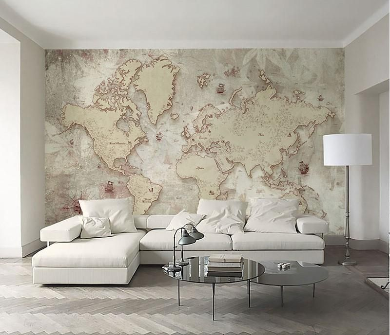 World Map Design Wallpaper Mural