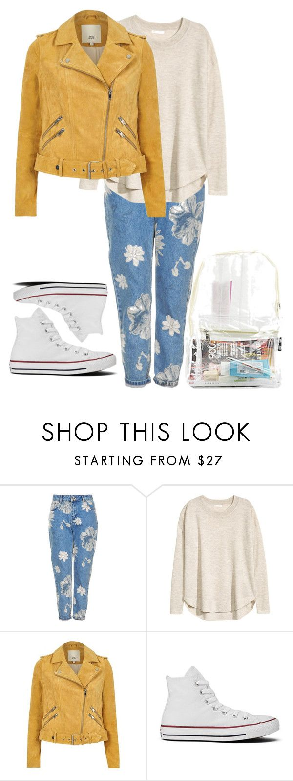 """""""21.09.2017"""" by klorikon00 on Polyvore featuring Topshop, H&M, River Island and Converse"""