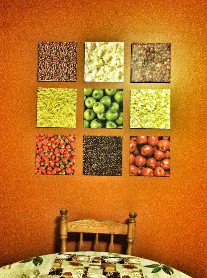 DIY Kitchen Wall Art - Dollar Tree foam board, scrapbook ...