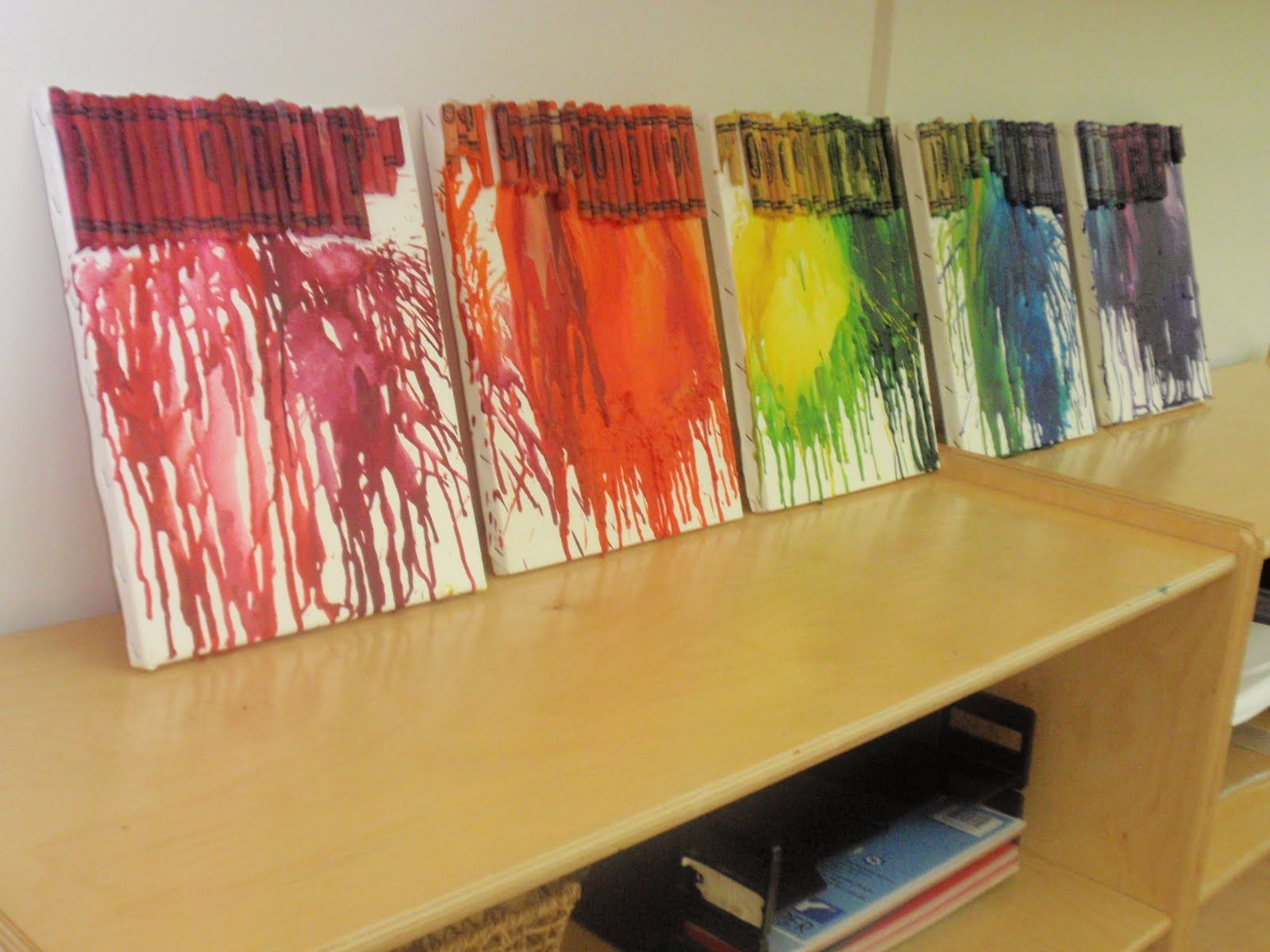 Crayons art! Aww for a kids room. So cute. And easy!