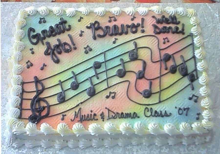 Music Sheet Cake Music Cakes Sheet Cake Designs Cake