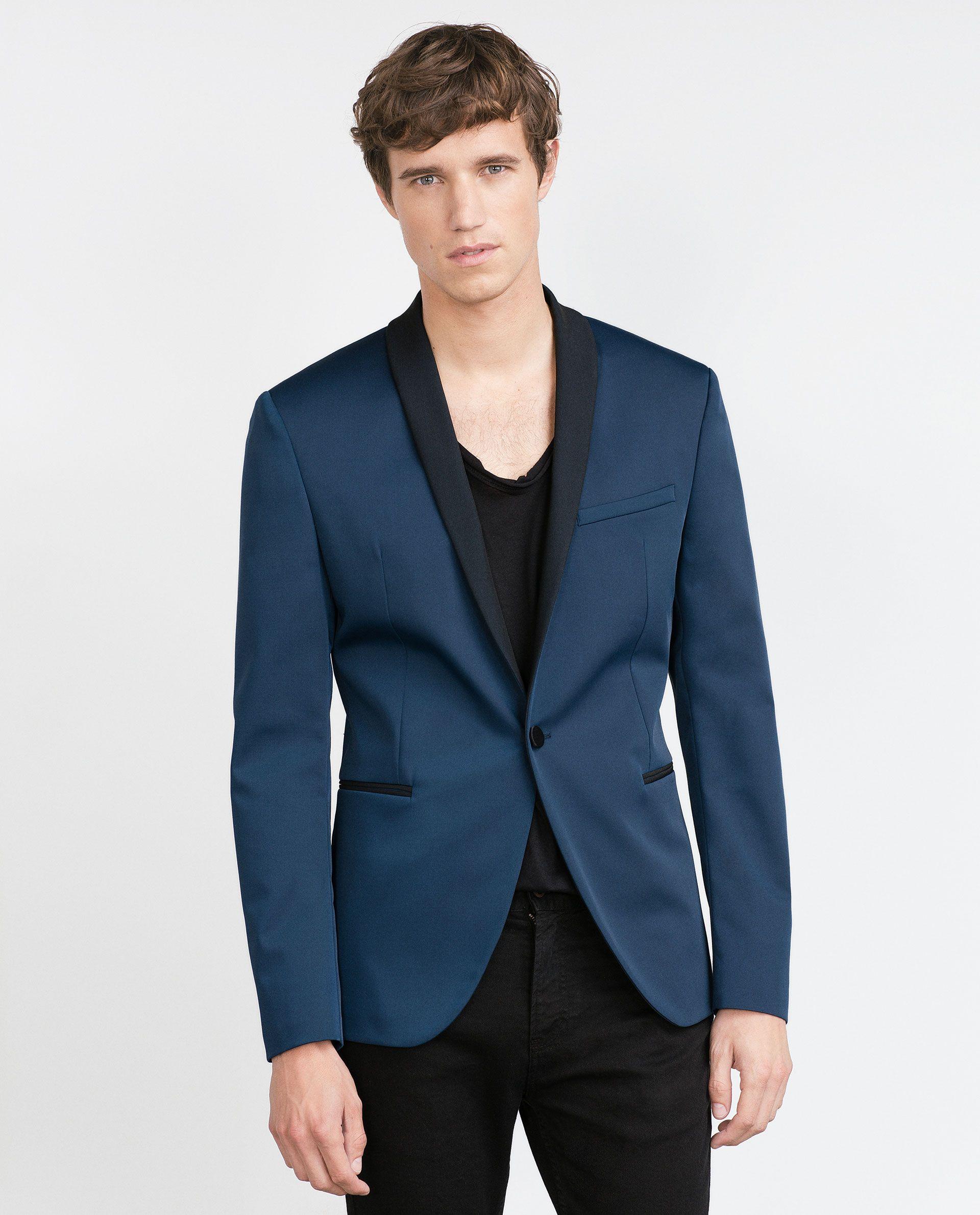 b9173fdd3dd DEEP BLUE BLAZER - Blazers - MAN   ZARA Belgium ZARA Blazer Azul, Zara  United