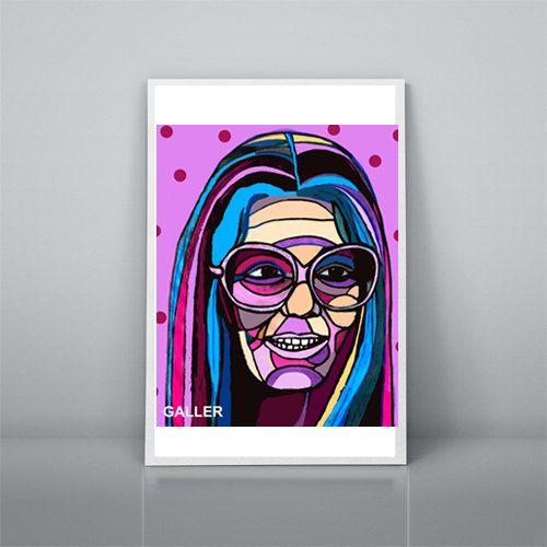 Gloria Steinem Art Print Poster of Painting by HeatherGallerArt, $10.00