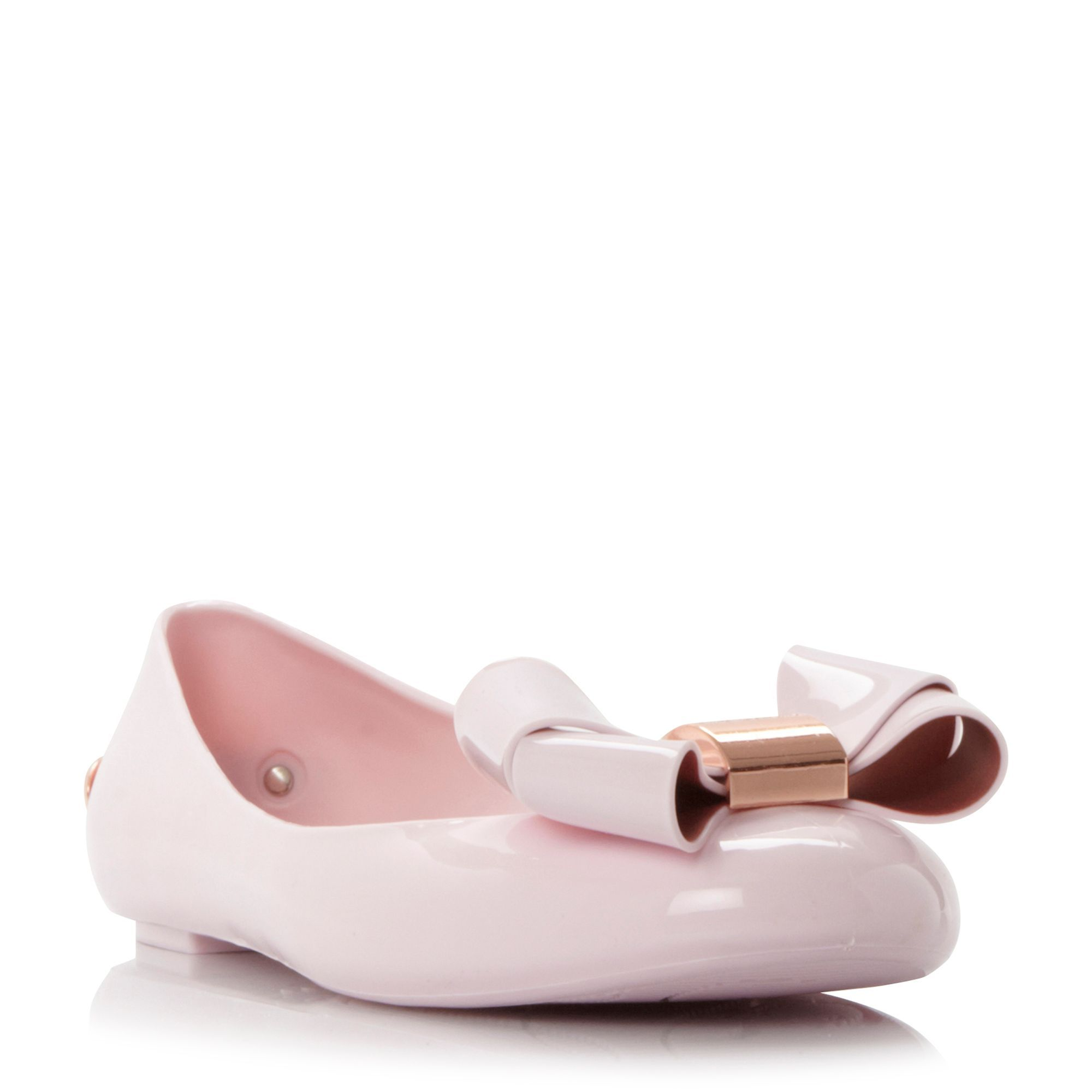64b45b0f94b30a Ted Baker Faiyte bow detail jelly ballet pumps