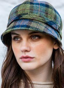 8f738da1b50c8 Mucros Weavers blue plaid Flapper hat  55