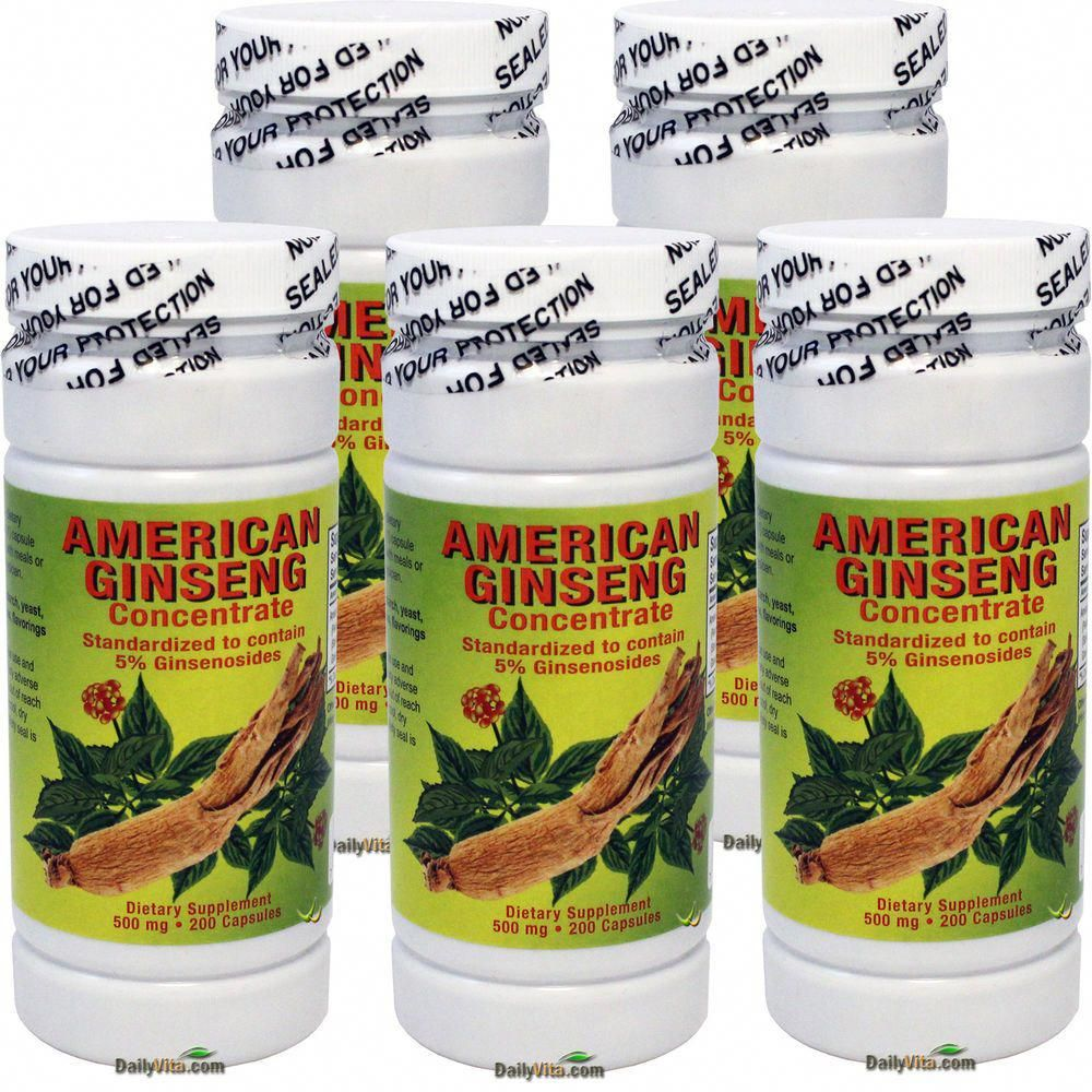 5 X American Ginseng Concentrate Extract Pannox Gisennoids 500