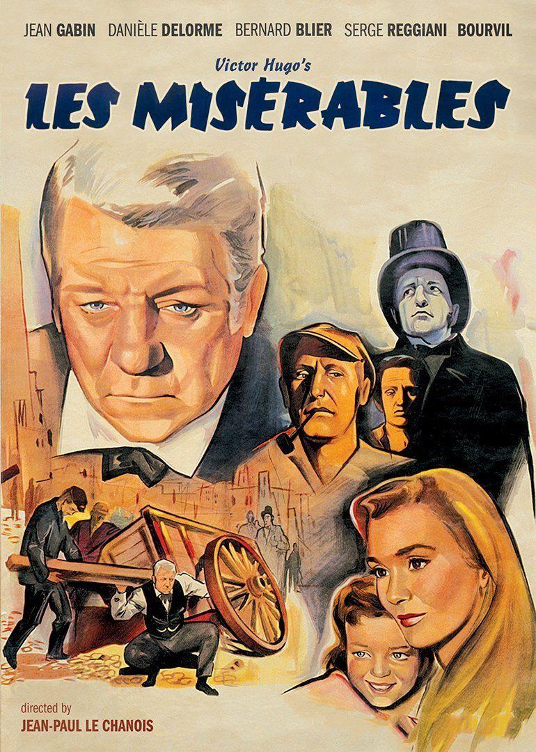 Les Miserables: Jean Gabin, Bernard Blier, Bourvil, Daniele Delorme, Serge Reggiani