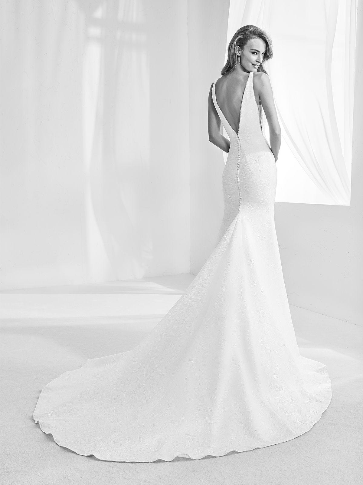 Vestido de Noiva de Atelier Pronovias RACIMO corte sereia decote