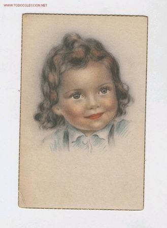 REF 5660 POSTAL NIÑA (Postales - Niños)
