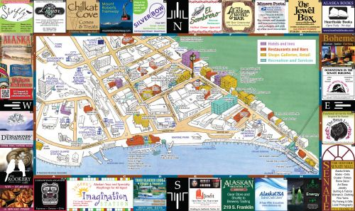 Great map of downtown Juneau Homegrown Hometown Juneau Pinterest