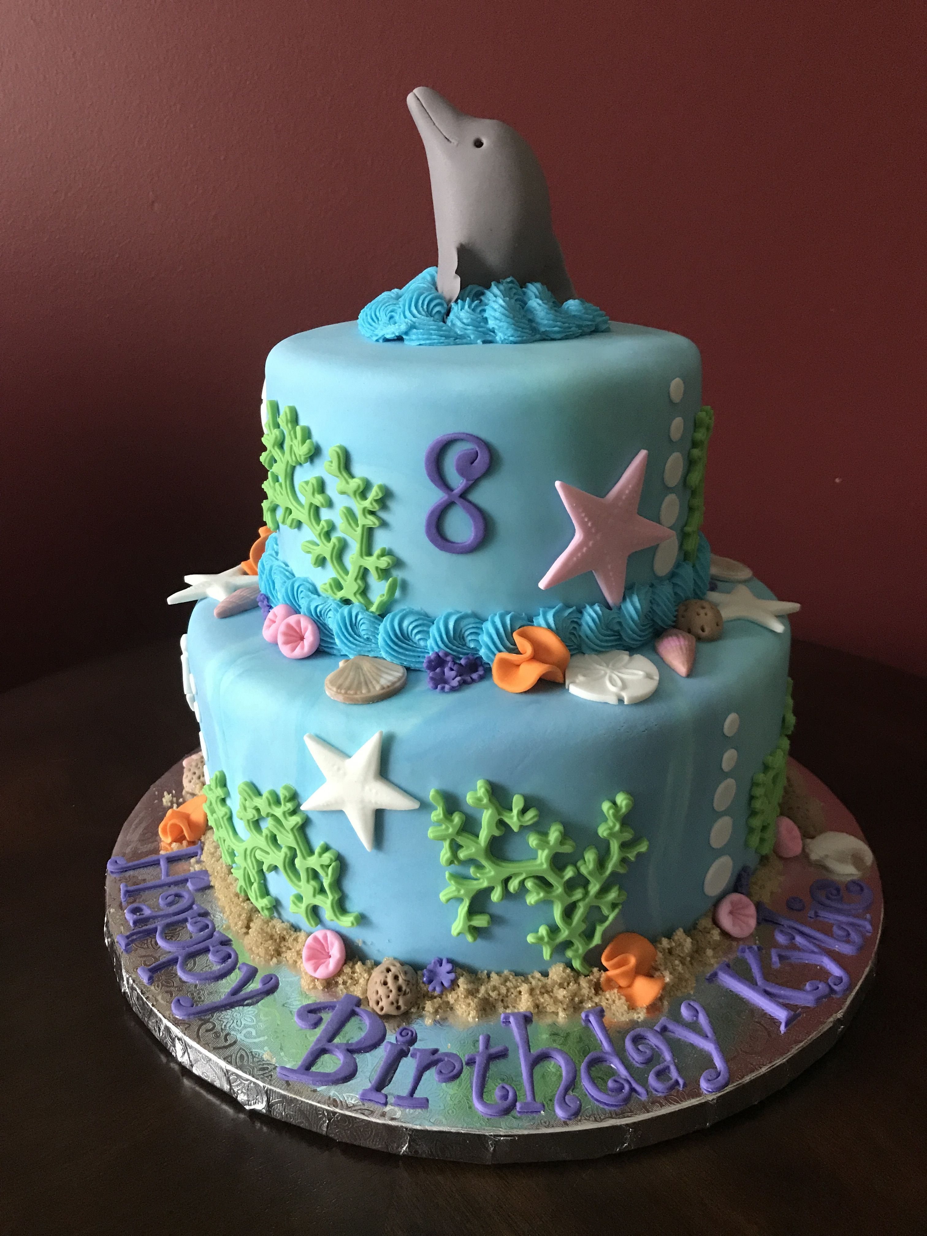 Fabulous Dolphin Birthday Cake With Images Birthday Cake Kids Dolphin Funny Birthday Cards Online Alyptdamsfinfo