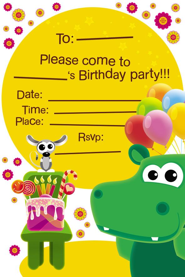 Babytv Invitation Card