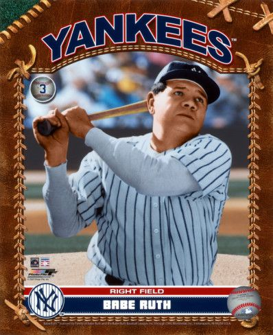 This Is A 1920s Baseball Card Depicting Babe Ruth This