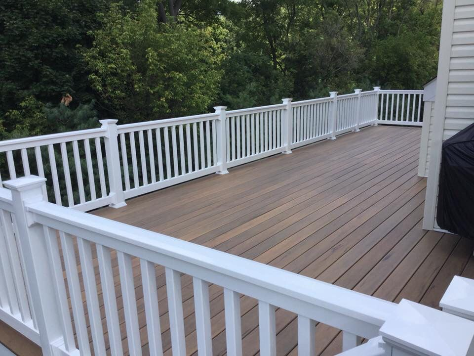 Timber Tech Tigerwood Composite Decking With Hidden Fasteners Timber Deck Composite Decking Deck Colors