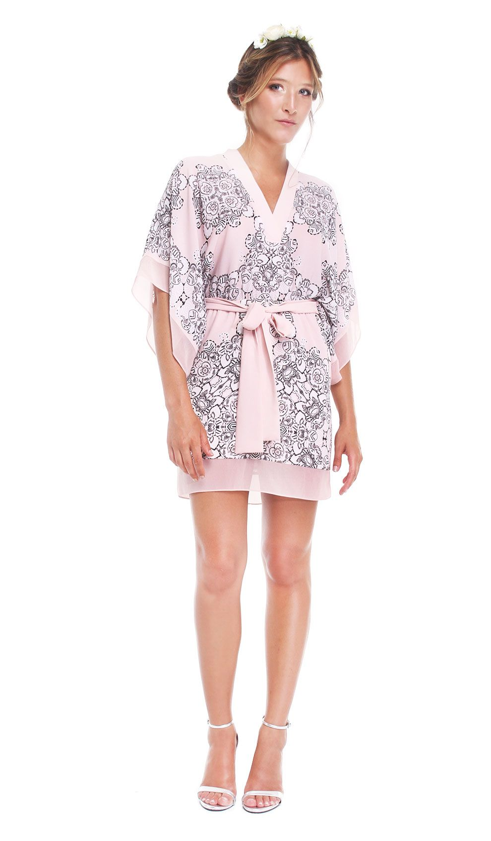 Bcbg max azria pink kimono dress chic by choice hire designer