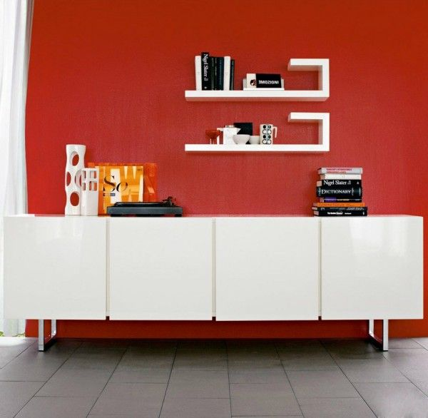 The Calligaris Seattle Cabinet is an Italian-designed four door ...