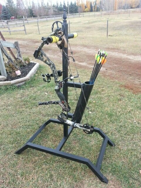 My Diy Bow Stand Made It Out Of 1 1 2 Quot Thin Square Metal