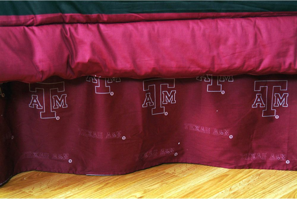 Texas A&M Printed Dust Ruffle Full - TAMDRFL by College Covers