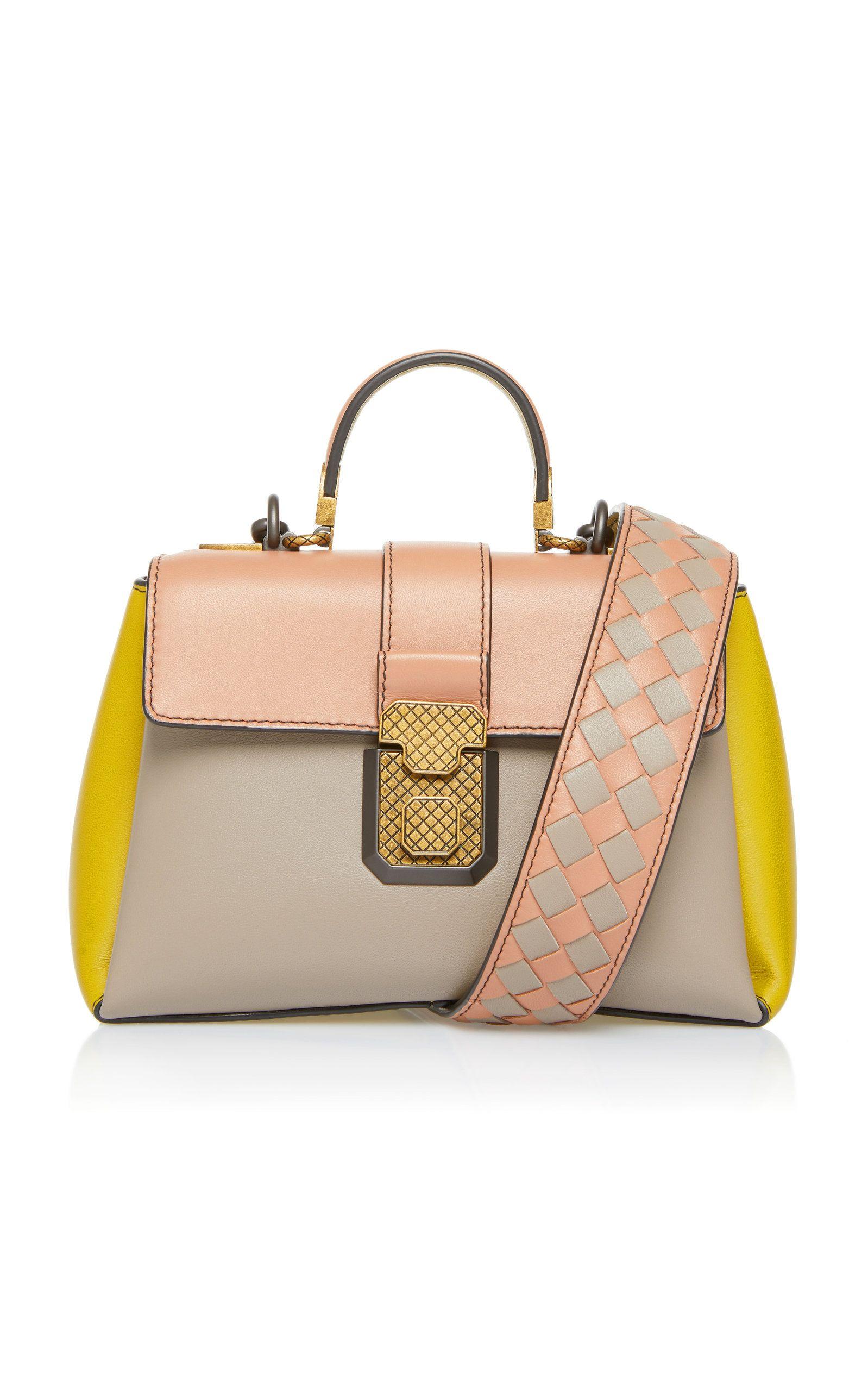 Multicolor Piazza Leather Top Handle Bag By Bottega Veneta Now Available On Moda Operandi