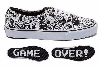 b1fbf7323e6c8c New VANS Authentic Nintendo Super Mario Villains Skate Shoe Mens Womens