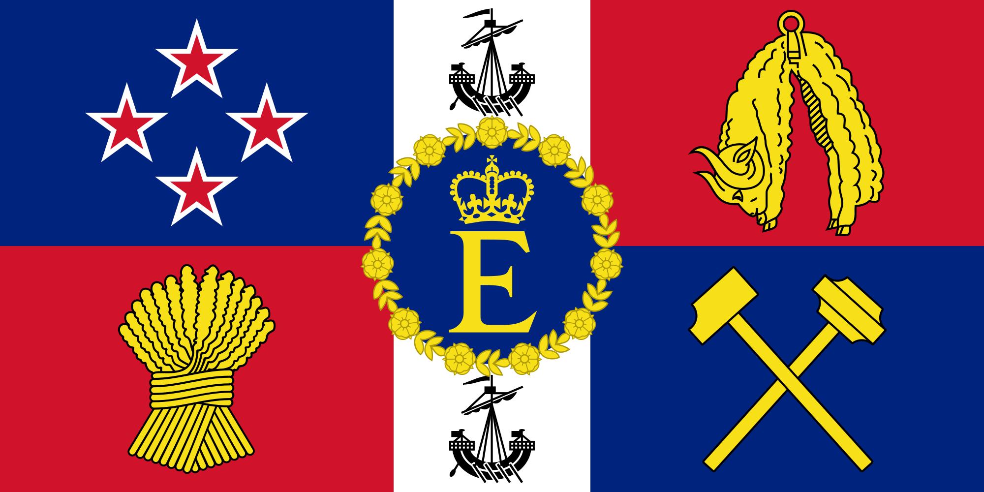Royal Standard Of New Zealand New Zealand Flag Flag New Zealand