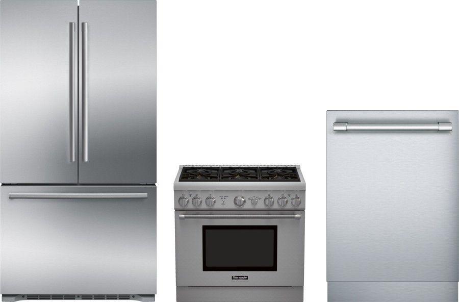 Bosch 800 3 Piece Kitchen Appliances Package With French Door Refrigerator G Kitchen Appliance Packages French Door Refrigerator Automatic Ice Maker