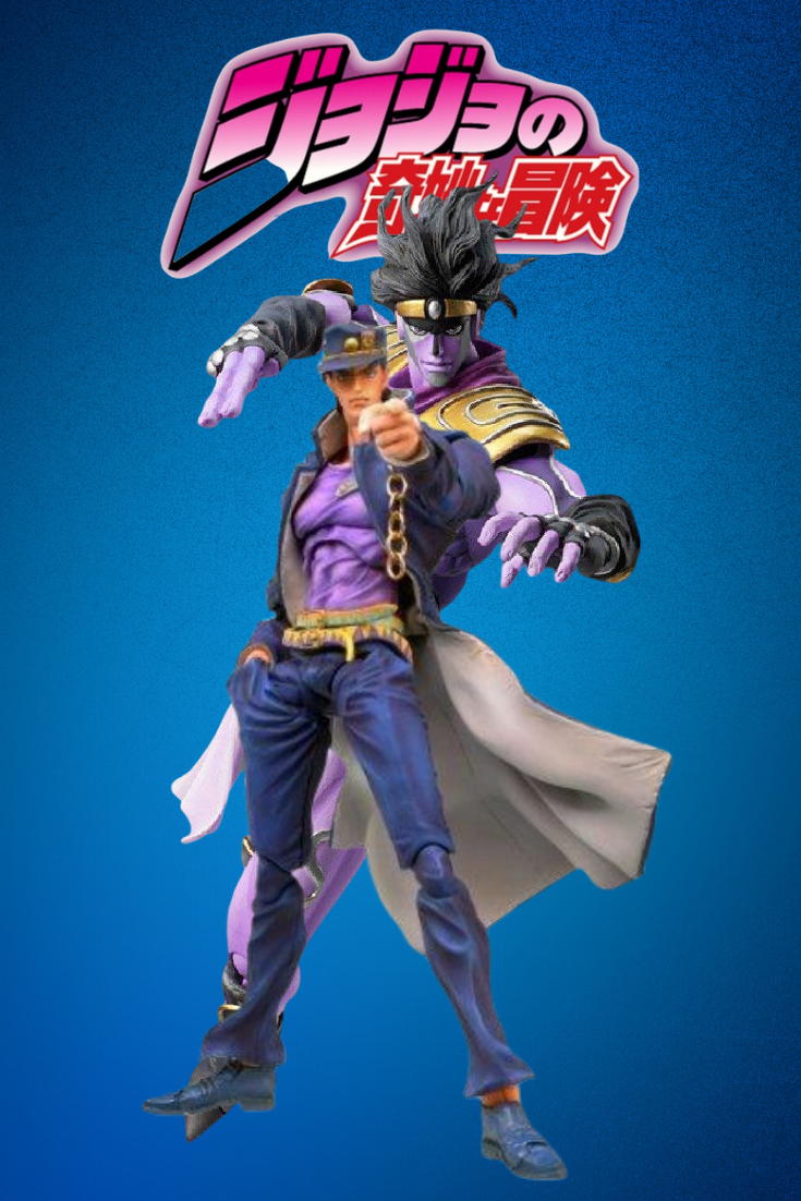 Jotaro and his stand Star Platinum Action Figure Toys