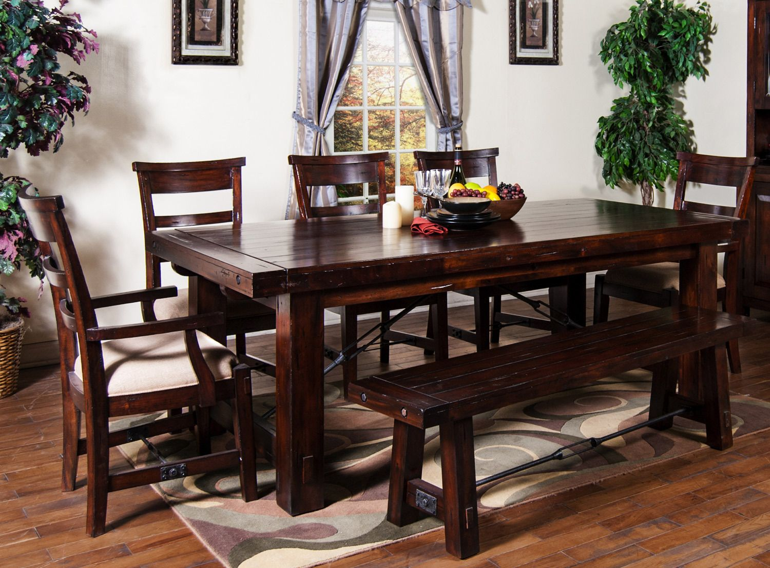 Vineyard Extension Table Dining Room Set Sunny Designs Furniture Home Gallery Stores Dining Room Table Set Rustic Kitchen Tables Unique Dining Tables