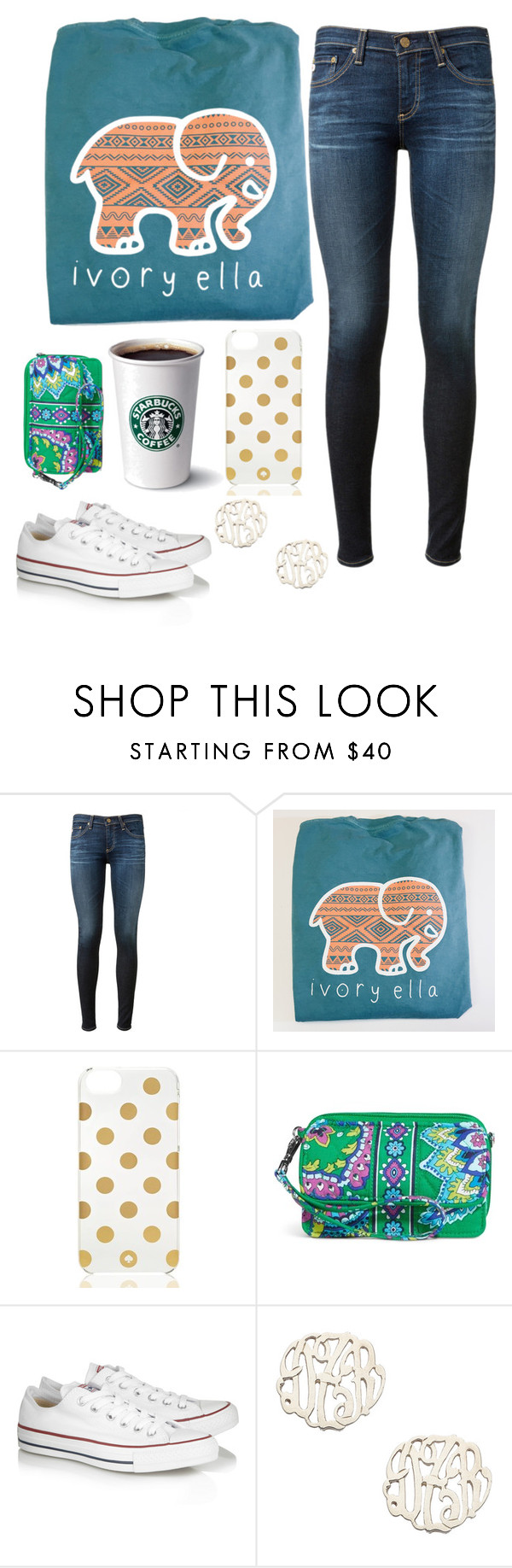 """Ready for Church tonight❤️"" by theblonde07 ❤ liked on Polyvore featuring AG Adriano Goldschmied, Kate Spade, Vera Bradley, Converse, Danielle Stevens and blondiesbest"