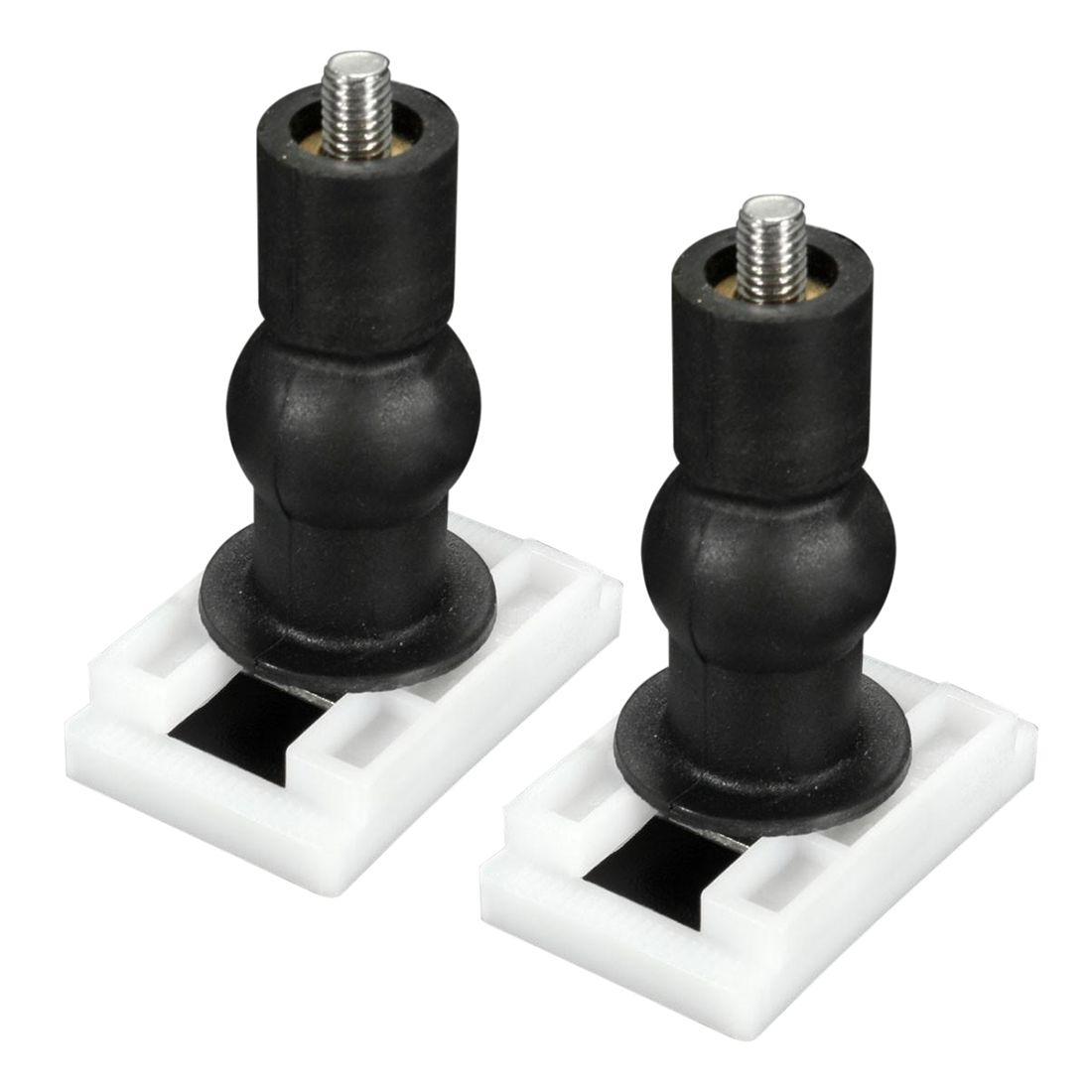 2pcs Diy Plastic Toilet Seat Screws Fixings Fit Toilet Seats Hinges Repair Tools Type Size 13 2 3x3 8cm Toilet Seat Hinges Toilet Seat Bathroom Fixtures