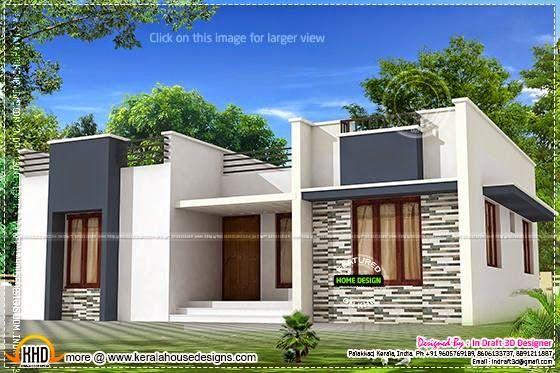 Trendy Single Floor Home House Roof Design Flat Roof House Kerala House Design