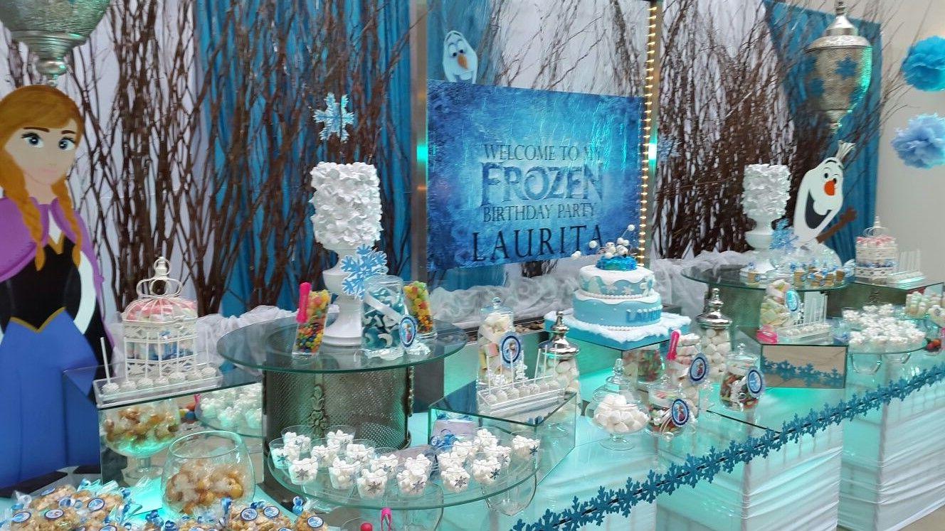 Mesa de Dulces Frozen una Aventura congelada