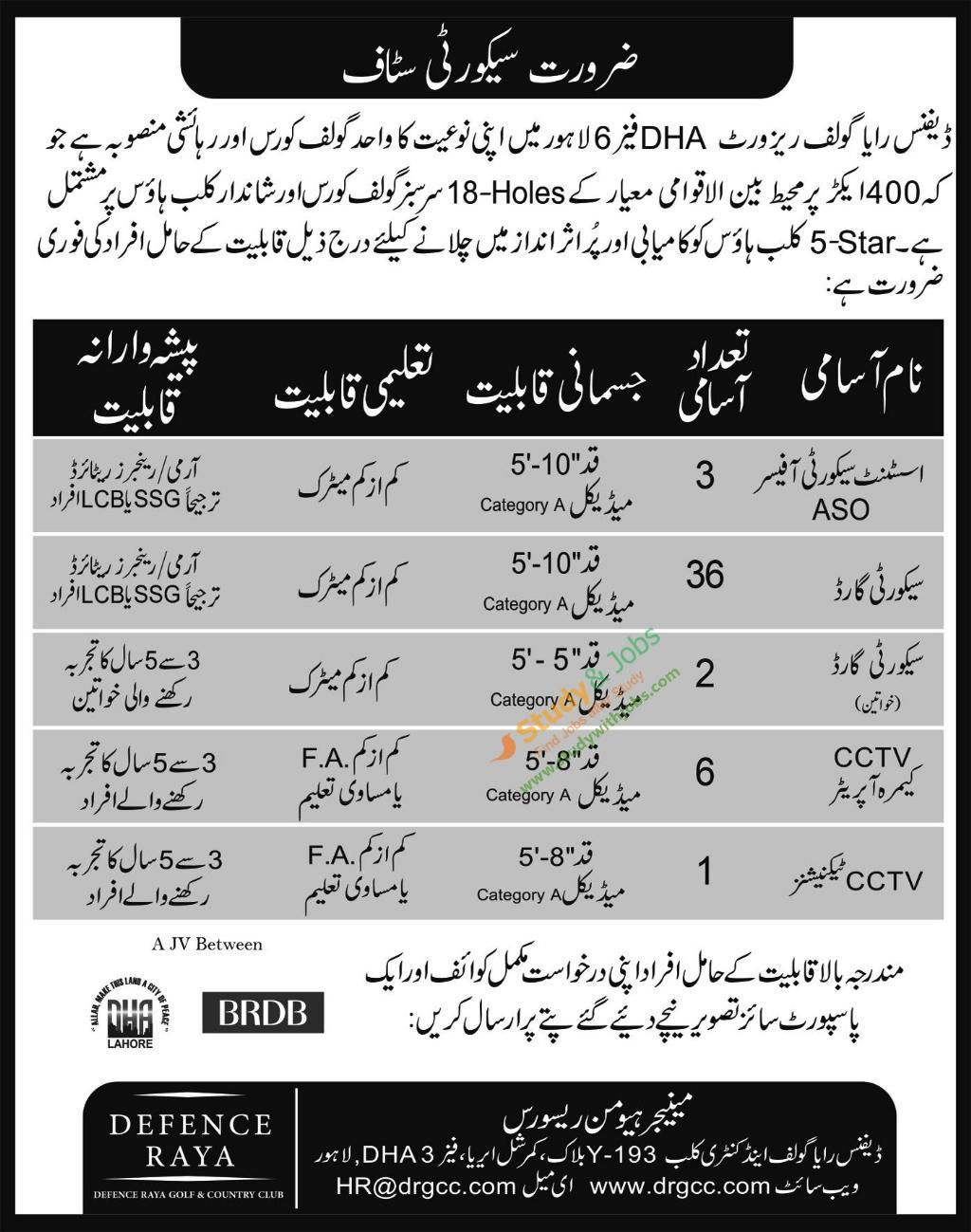jobs in lahore defense raya golf resort sunday aug 2017