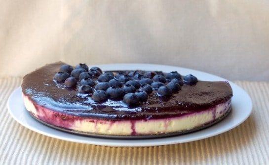 No-Bake Lemon Blueberry Cheesecake #lemonblueberrycheesecake