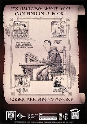 It's amazing what you can find in a book: books are for everyone / illustration Martin Brown(1998)