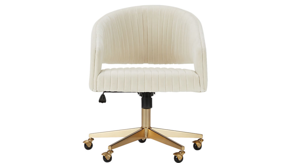 Channel Ivory Velvet Office Chair + Reviews in 2020 Most