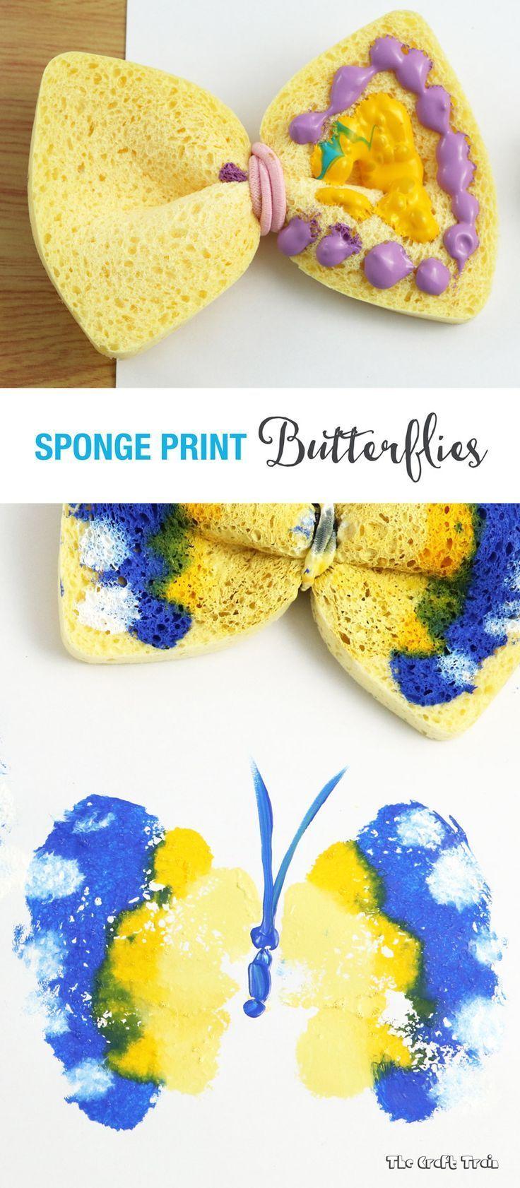 Sponge butterfly printing | Butterfly print, Butterfly and Kindergarten