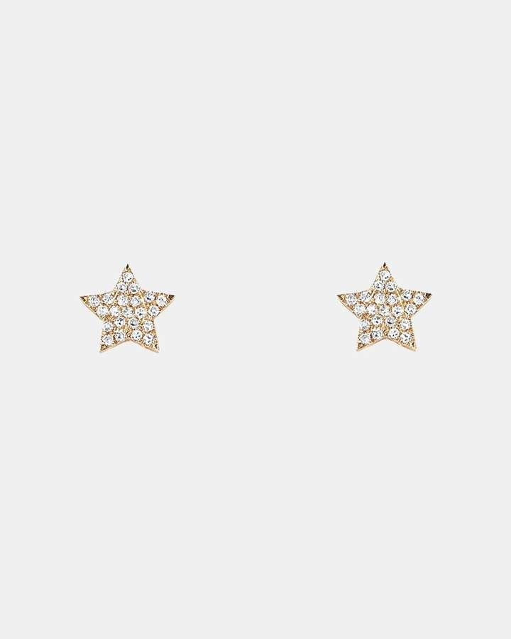 theory ef collection diamond star stud earring earrings in 2018 Yellow Diamond Stud Earrings theory ef collection diamond star stud earring
