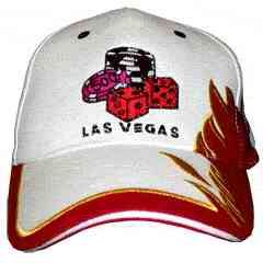 Flashing fiber optic hat with Las Vegas dice logo. High Powered L.E.D. s  Light Up State of the Art Fiber Optic technology built into these Custom ... 8a3b3a681ea6