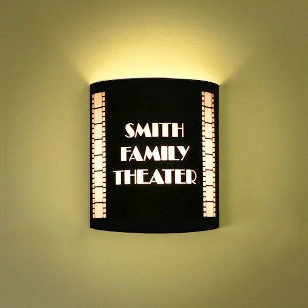 Personalized Wall Sconce - Lighting Sconce - Home Theater Decor ...