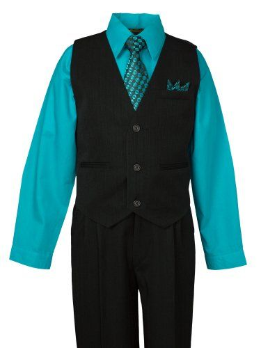 Spring Notion Big Boys 5 Piece Pinstripe Vest Set