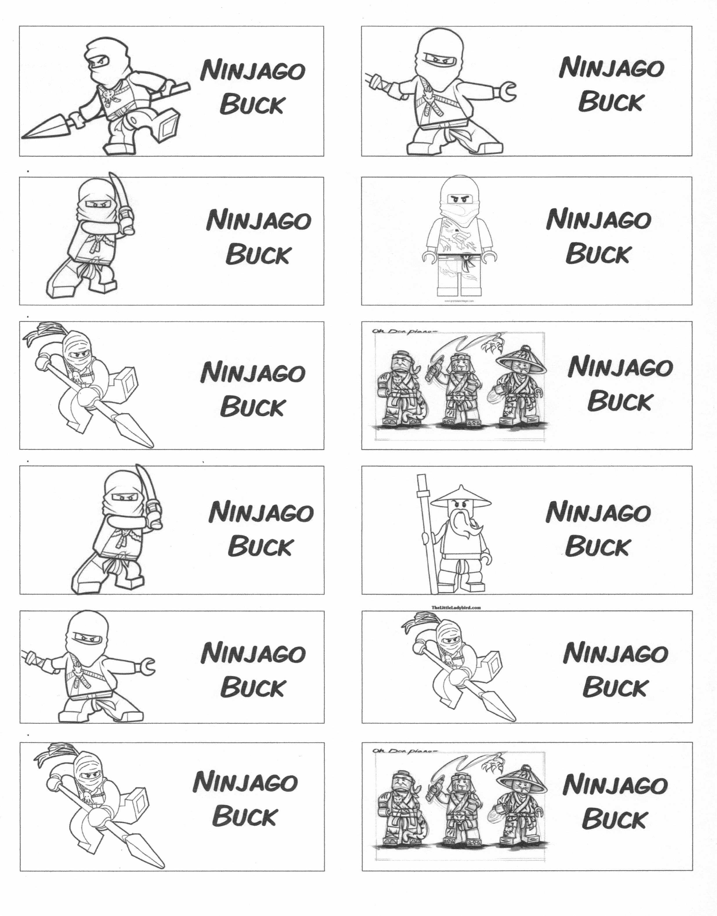 Ninjago Behavior Bucks For Use With A Behavior