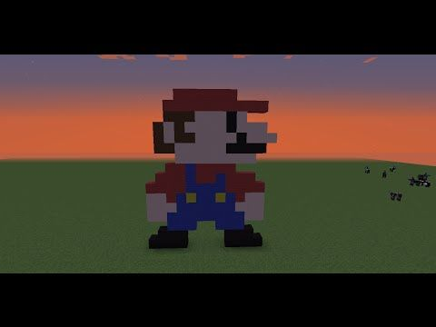 Minecraft Pixel Art Tutorial: 8 Bit Mario   YouTube