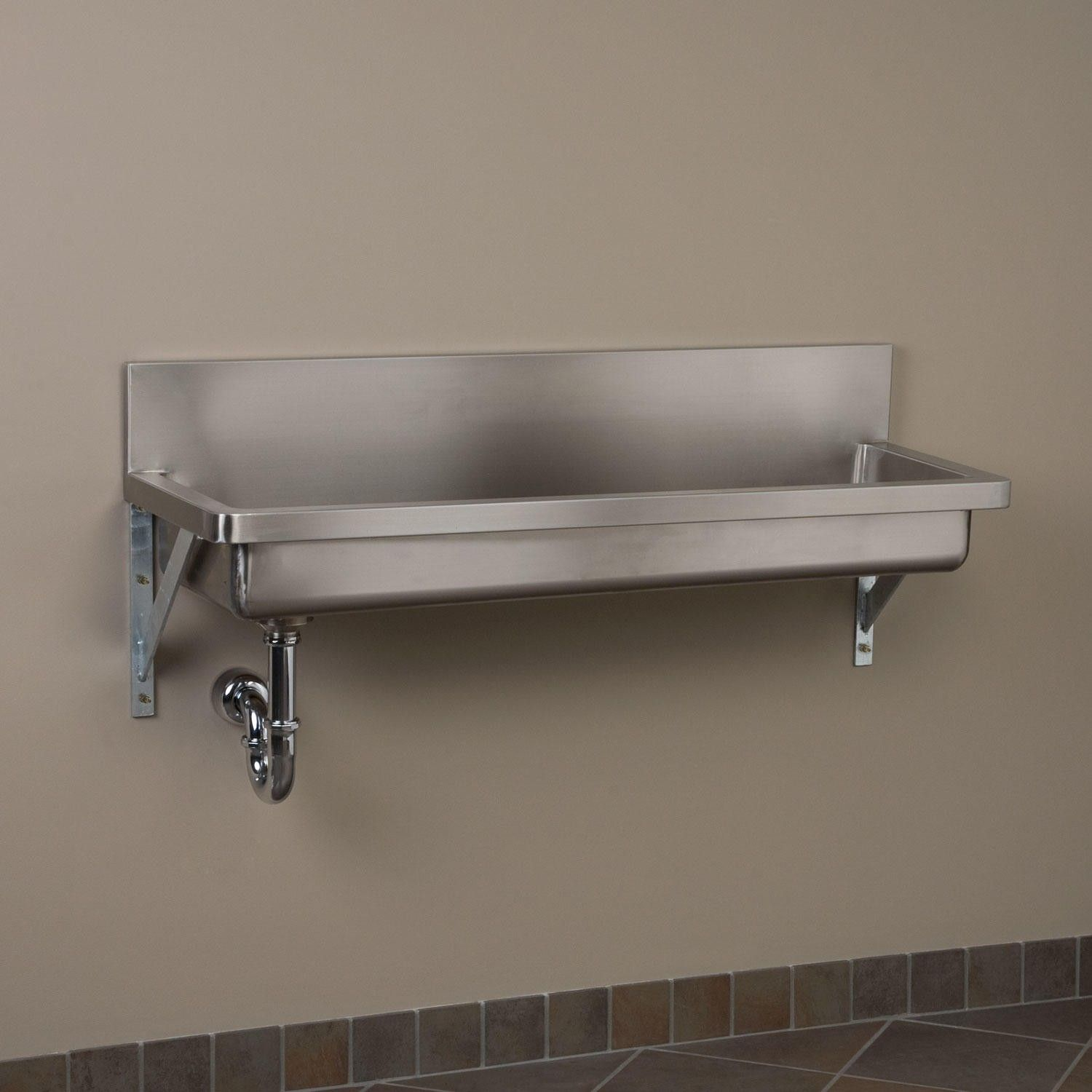 Kitchen sink stainless steel double drainer single bowl in vic ebay - Stainless Steel Wall Mount Commercial Sink