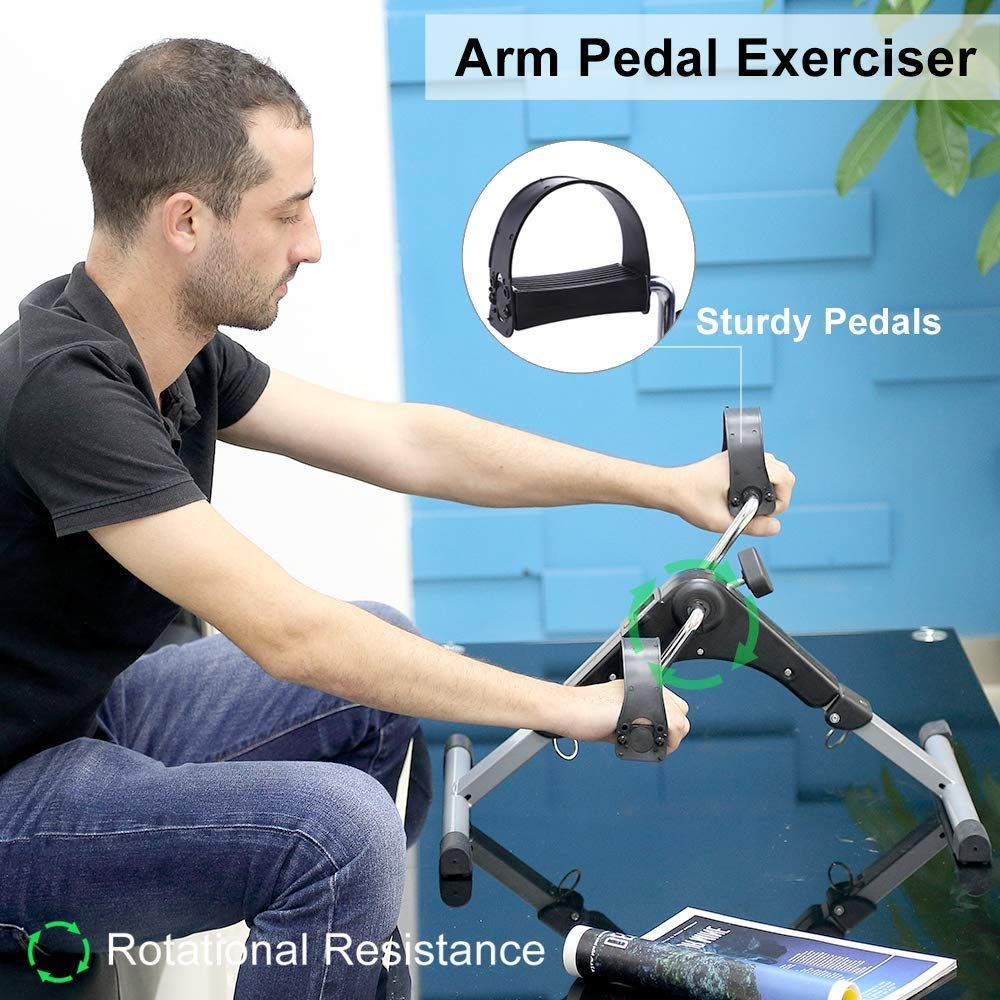 Elderly Exercise Bike Fitness Foot Pedal Trainer Cycling Home Height Adjustable