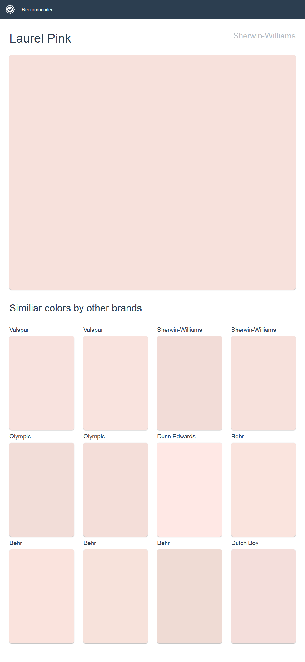 Laurel Pink, Sherwin Williams