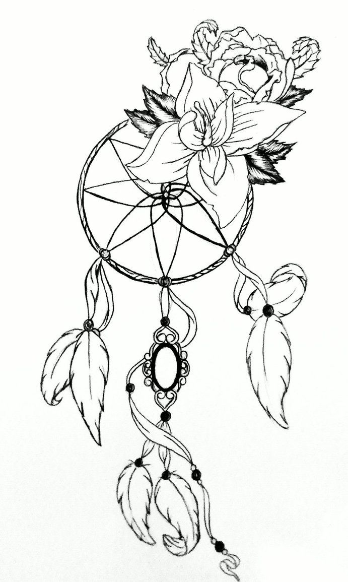 Dream Catcher Outline Dreamcatchergabrielatwelldeviantart On Deviantart  Adult