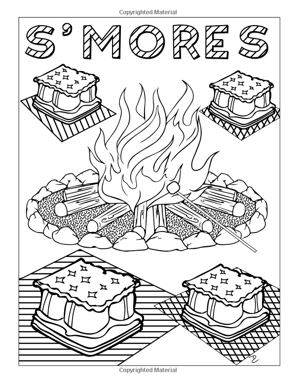 amazoncom camp stuff 24 page coloring book 24 totally awesome coloring pages